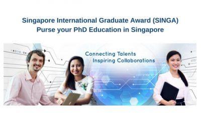 Singapore International Graduate Award for PhD Studies in Singapore