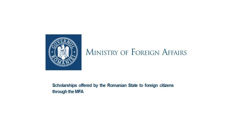 Scholarships offered by the Romanian State to foreign citizens through the MFA