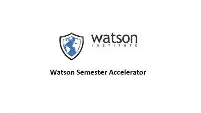 WATSON SEMESTER ACCELERATOR 2021